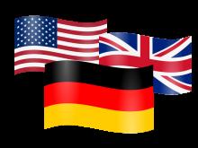 flaggen deutschland england usa